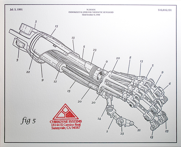 Arm-nold Schwarzenegger Patent Drawing: Terminator