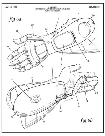 Arm-nold Schwarzenegger Patent Drawing: Jingle All the Way