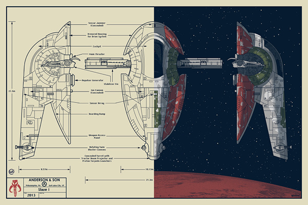 Star Wars Blueprint: Slave I