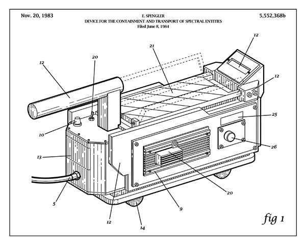 Ghostbusters Patent Drawing: Ghost Trap