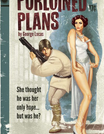 Star Wars Pulp Cover: The Purloined Plans