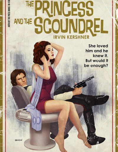 Star Wars Pulp Cover: The Princess and the Scoundrel