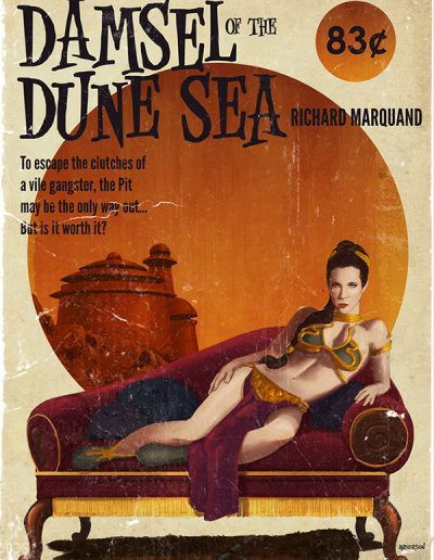 Star Wars Pulp Cover: Damsel of the Dune Sea
