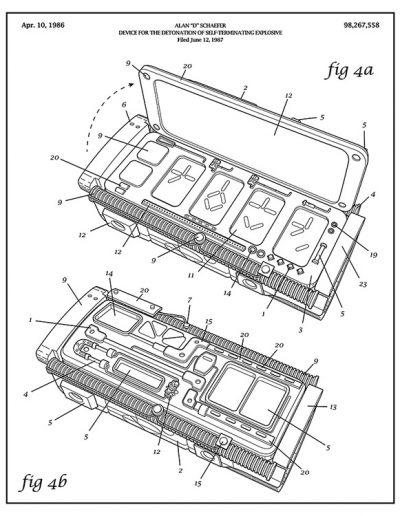 Arm-nold Schwarzenegger Patent Drawing: Predator